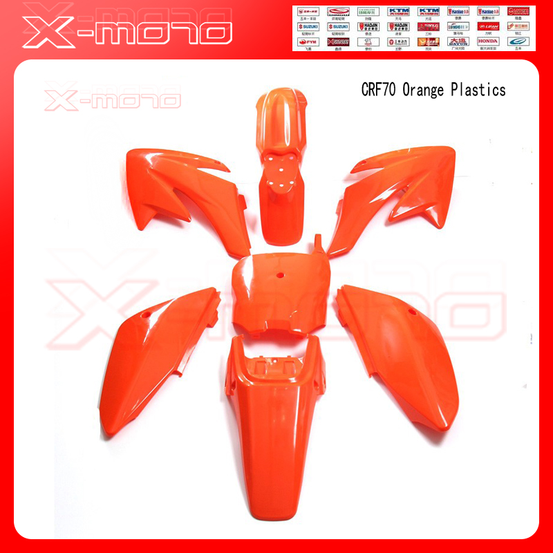 CRF70 Plastic covers Plastic kits Fairing CRF70 Pit Bike Procket Bike Xmotos Baja DR50 49 50cc 70 90 110 New Orange