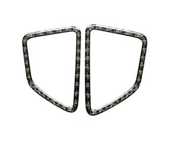 2pcs carbon fibre abs sticker For BMW X5 X6 (2008-2013) Air outlet decorative frame sticker