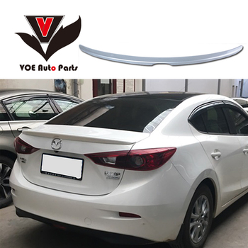 2016 AXELA ABS Plastic Unpainted Primer Rear Wing Lip Spoiler for Mazda AXELA