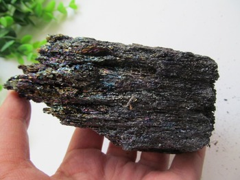 Natural Colorfu Silicon Carbide Colorful Gem Ore Decoration Rock minerals Specimens 340g