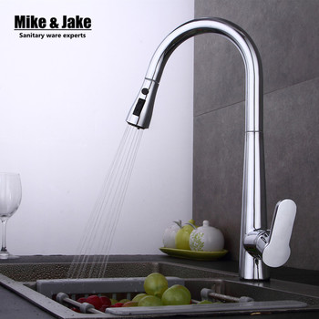 Pull out Kitchen faucet 3 function Sink mixer Faucet Pull Out Dual Sprayer Nozzle Hot Cold Mixer Water Taps MJ408